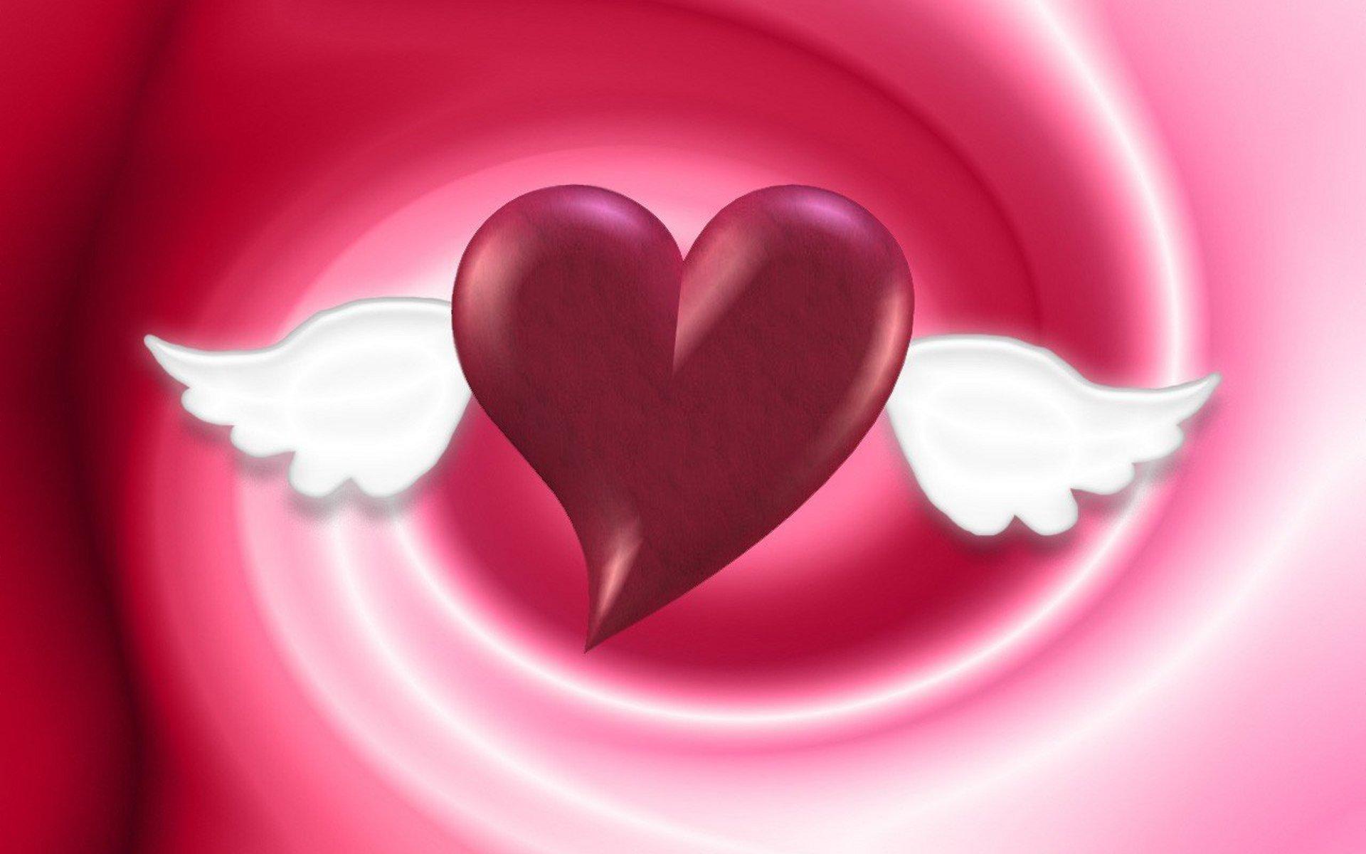 Самодельные открытки, картинки с сердечками и надписями и ангелами
